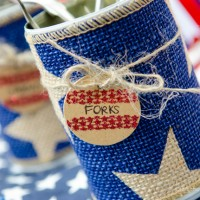 Patriotic Tin Can Organizers