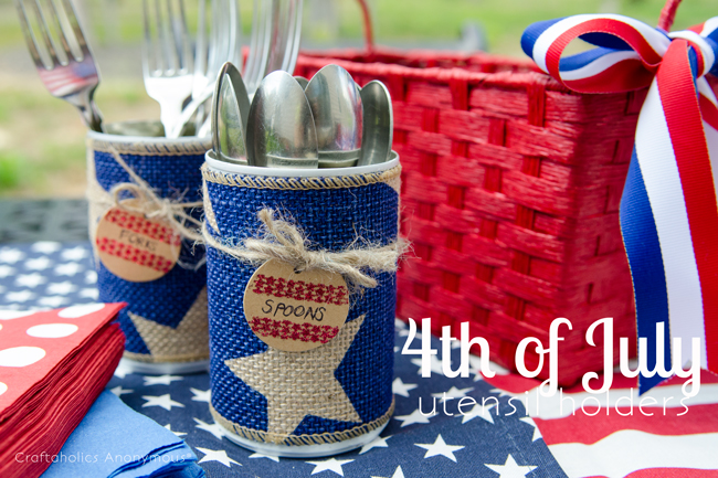 4th of july craft idea. great way to reuse tin cans!