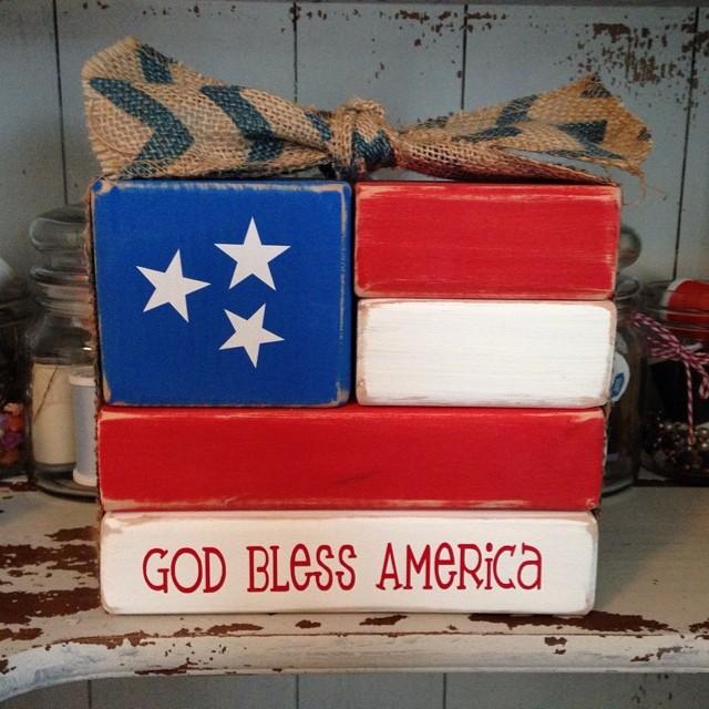 6 God Bless America Blocks