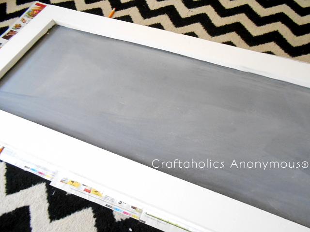 diy framed chalkboard tutorial