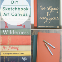 DIY Sketchbook Art Canvas