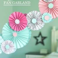 Paper Fan Garland Tutorial