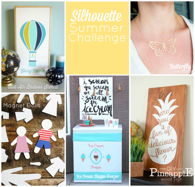 Silhouette Summer Challenge Collage