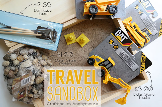 How to make Travel Sandbox - An easy and inexpensive birthday gift!