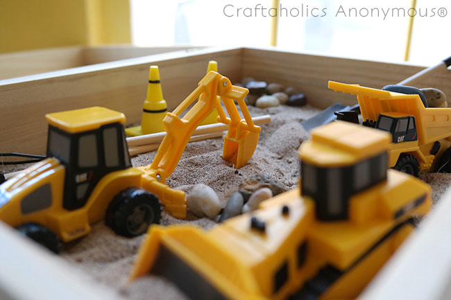 Make your own Travel Sandbox toy for the kids. These are really fun to play with!