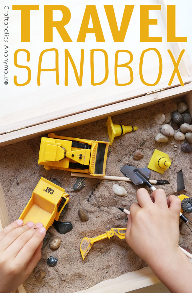 Travel Sandbox - The perfect handmade kid gift for under 10 bucks!