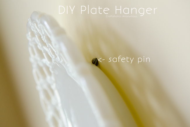 How to make DIY Plate Hangers using household items.