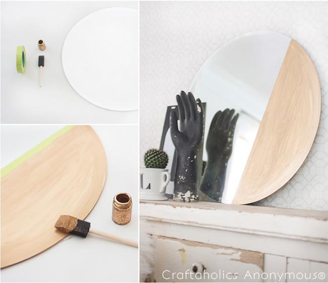 DIY Gold Dipped Mirror