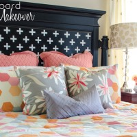Headboard Makeover with Silhouette CAMEO