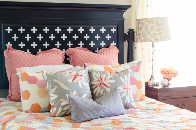 headboard-makeover-with-silhouette-cameo
