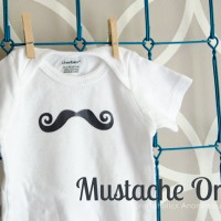 Mustache Onesie Baby Shower Gift Idea