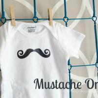 Mustache Onesie Baby Shower Gift Idea