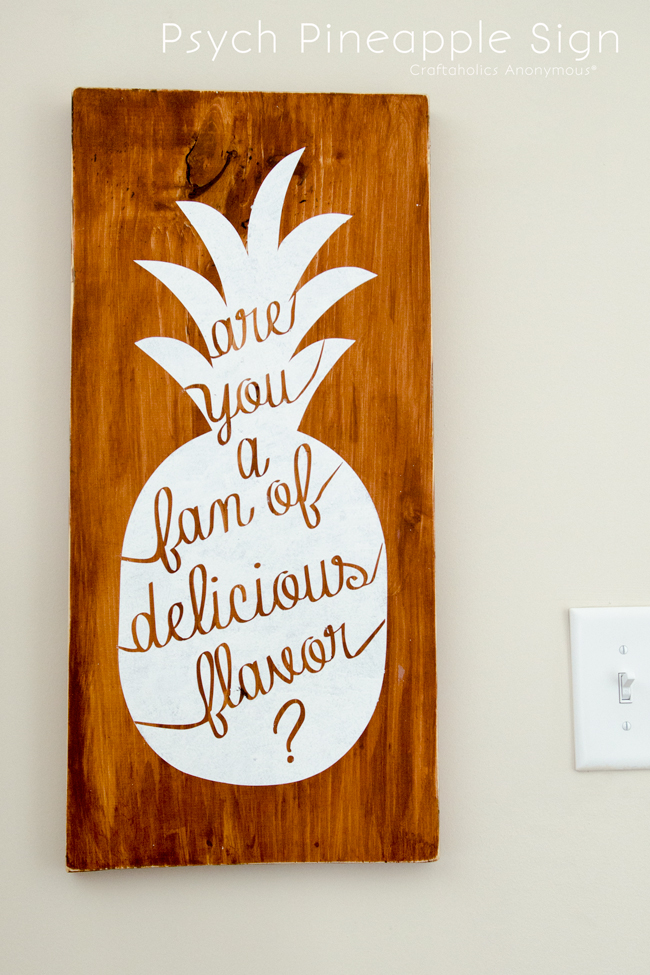 """Psych Pineapple Sign Quote. """"Are you a fan of delicious flavor?"""" Shawn Spenser"""