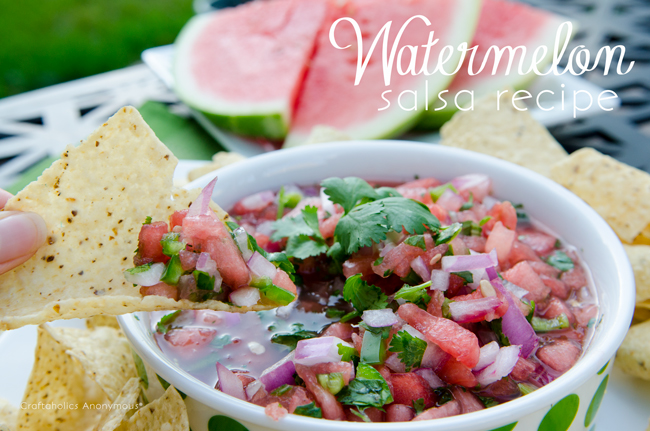 Watermelon Salsa recipe using fresh, whole ingredients. Sweet and spicy. Seriously delicious!