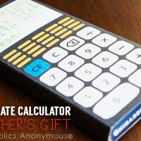 Chocolate Calculator Teacher's Gift Idea
