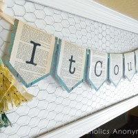 Super Easy Book Page Garland