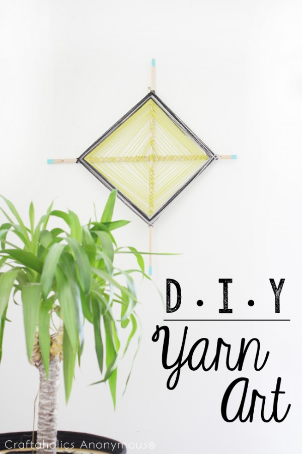 DIY Yarn Art - simple tutorial & fun project! #yarnart #diy #tutorial