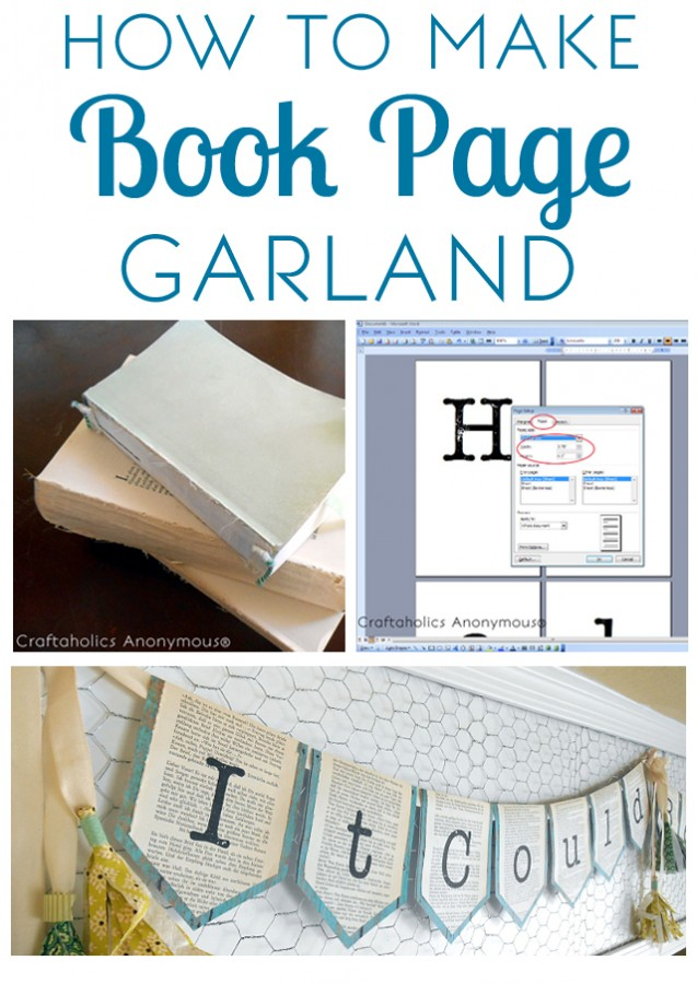 Simple Tutorial for a book page garland