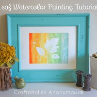 Fall Leaf Watercolor Painting Tutorial