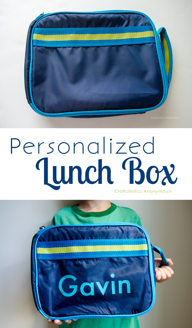 Personalized Lunch box. Easy Back to School craft idea!