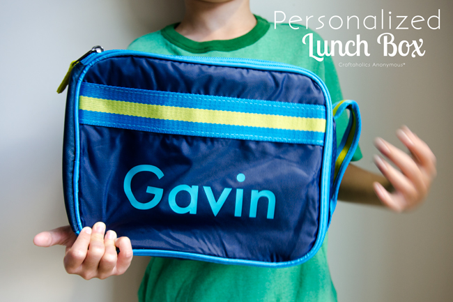 DIY Personalized Lunch Box. Add a name to help kids not lose their lunch box!