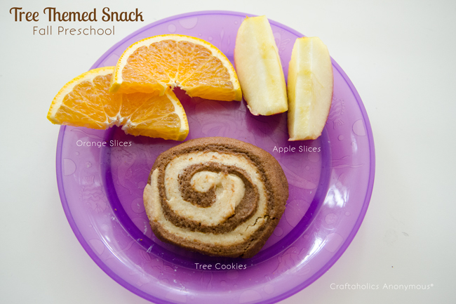 Tree Ring Cookies. Cute and yummy snack for a Tree or Fall themed Preschool!