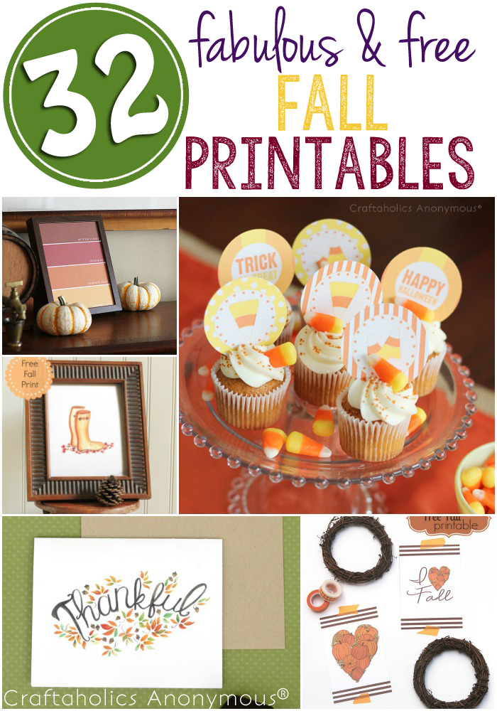 32 Fabulous Free Fall Printables