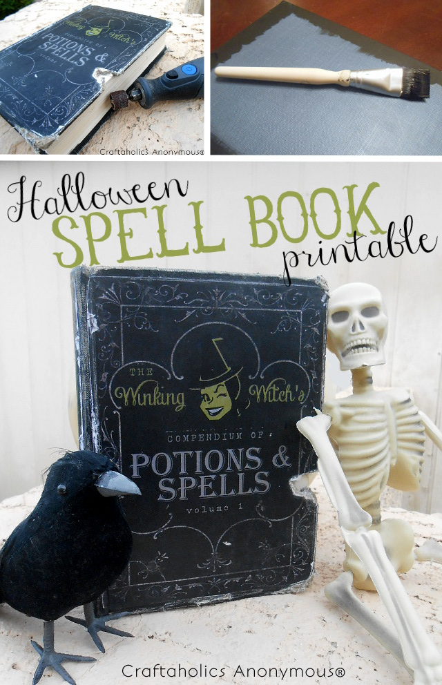 Free Halloween Spell Book Printable  #halloween #printable
