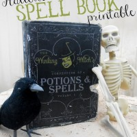 Free Halloween Spell Book Printable
