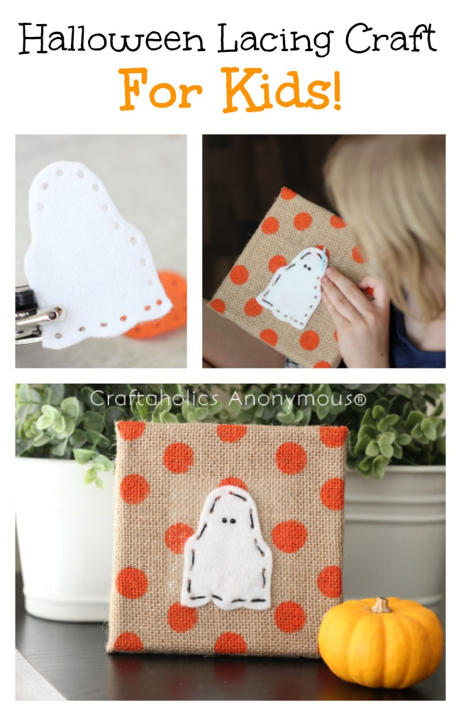 Halloween Kids Craft - Adorable lacing craft. Great for beginner sewists!