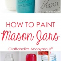 How to Paint Mason Jars Tips and Tricks