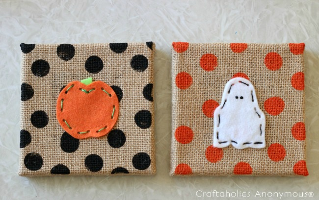 Kids Lacing Sewing Project for Halloween. Such a cute Halloween craft for kids! Makes a fun gift idea for teachers too.