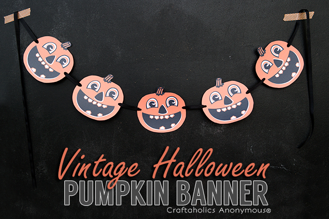 Vintage Halloween Banner - Free Halloween Printable. Love the vintage jack-o-lanterns!