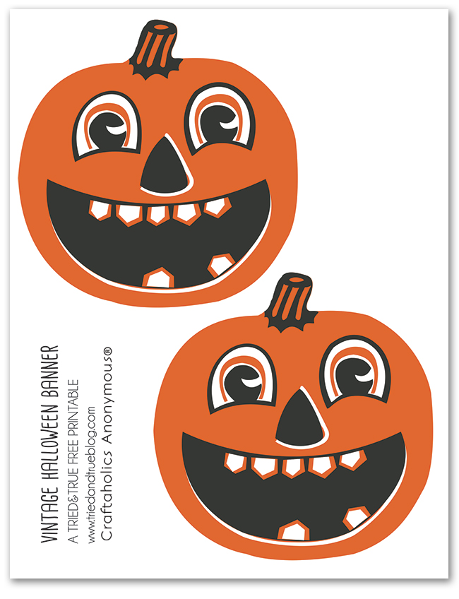 Vintage Halloween Banner Printable on Craftaholics Anonymous