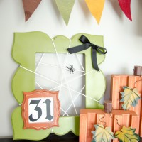 Spooky DIY Spider Web Frame Tutorial