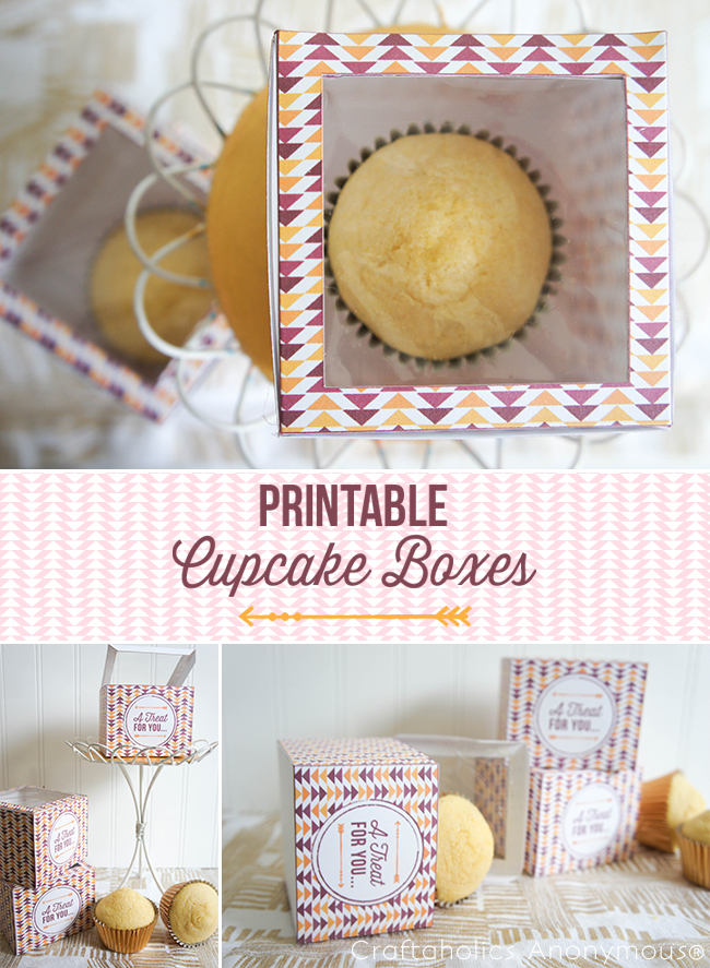 These Printable Cupcake Boxes make the perfect homemade gift!