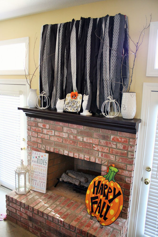 Fall Mantel Decor - The Gold Project