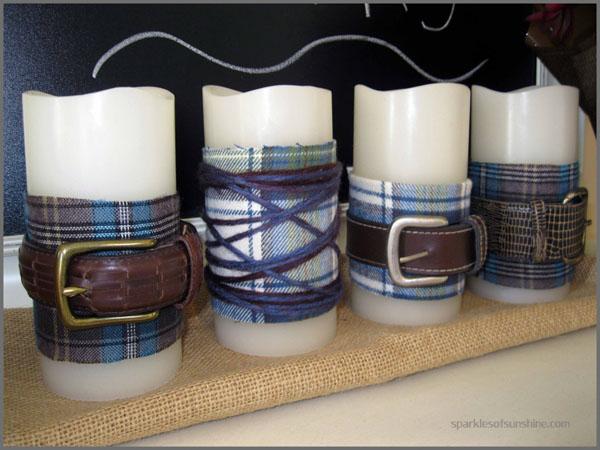 Flannel Belted Candles - Sparkle of Sunshine