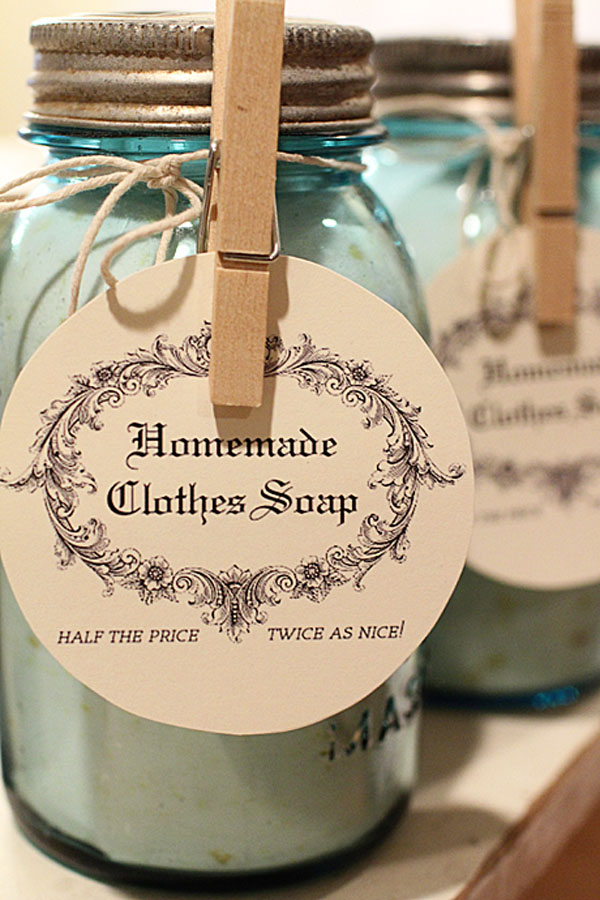 Homemade Clothes Soap