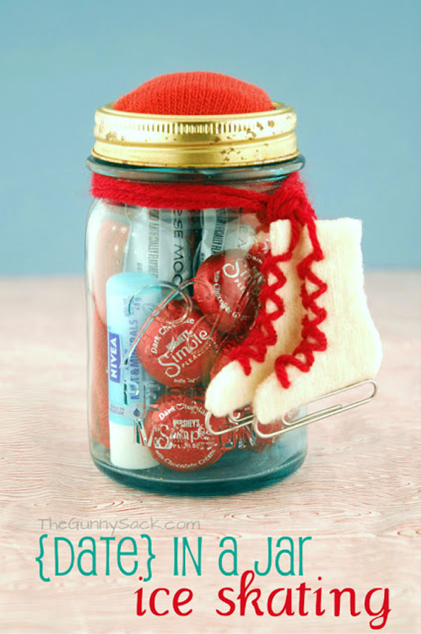 Ice Skating Date In A Mason Jar Gift