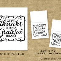 Thanksgiving Free Printable Quote + Utensil Holder