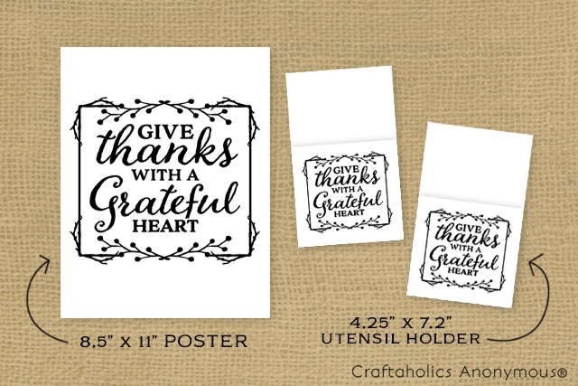 Thanksgiving Free printables. Print out the decor size or Utensil holder. Such a cute Turkey Day printable