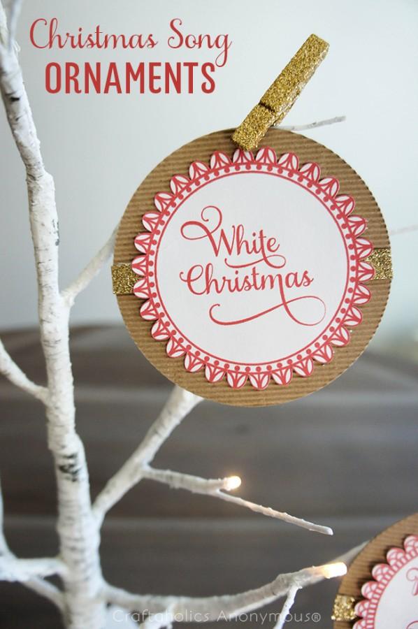 Beautiful Handmade Christmas Song Ornaments