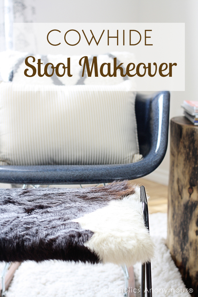 Cowhide Stool Makeover