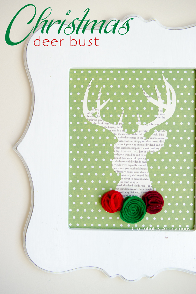 Christmas Reindeer bust craft || super cute and easy to make Christmas decor!