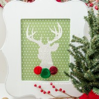 DIY Christmas Deer Bust Tutorial