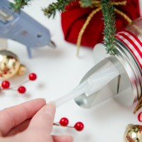 Mason Jar Glue Stick Dispenser Gift Idea