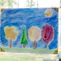 Fall Watercolor Art for Kids #MakeAmazing