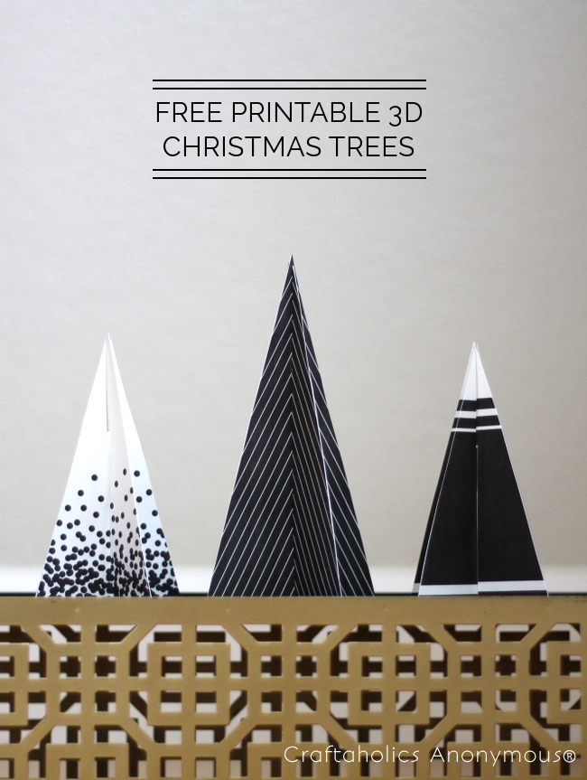 FREE PRINTABLE 3D Christmas Tree | Craftaholics Anonymous®