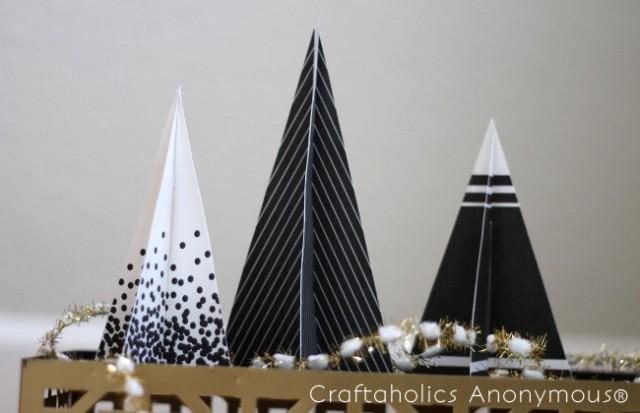 printable 3d christmas trees 3